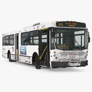 bus nabi 416 rigged model