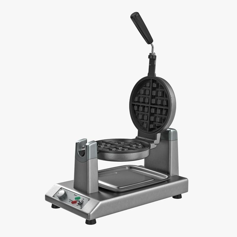 3D model commercial waffle baker machine