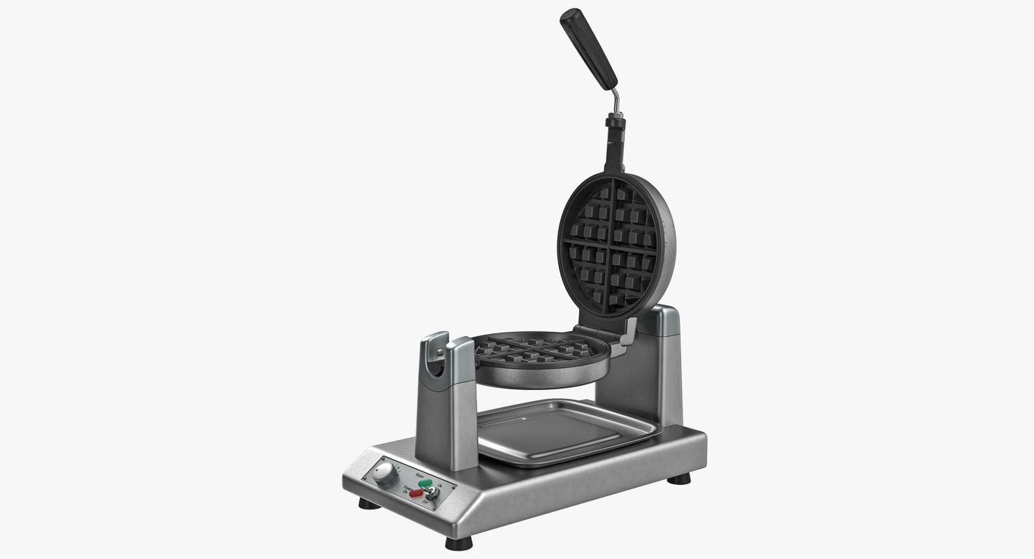 3D model commercial waffle baker machine