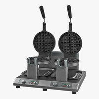 3D commercial waffle maker double model