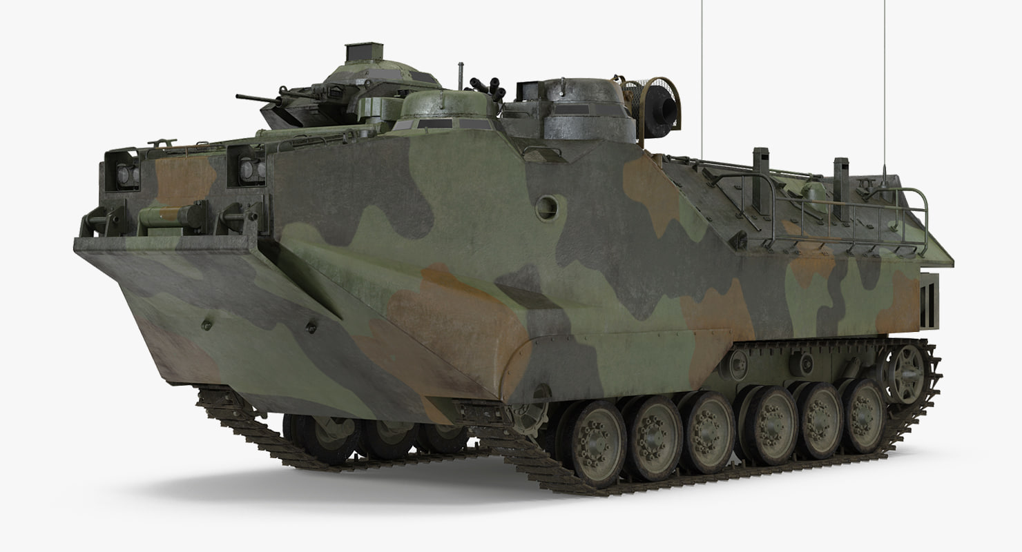 landing tracked vehicle aav-p7 3D model