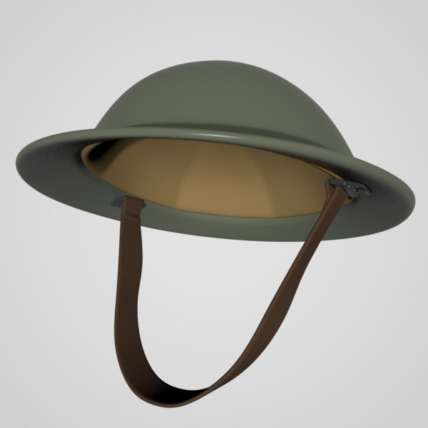 3D british brody helmet model