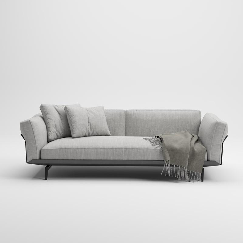 3D sofa este-sofa flexform model
