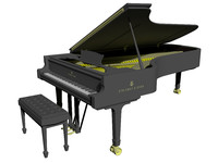 3D model steinway grand piano