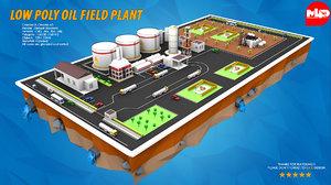oil field plant pumps 3D model