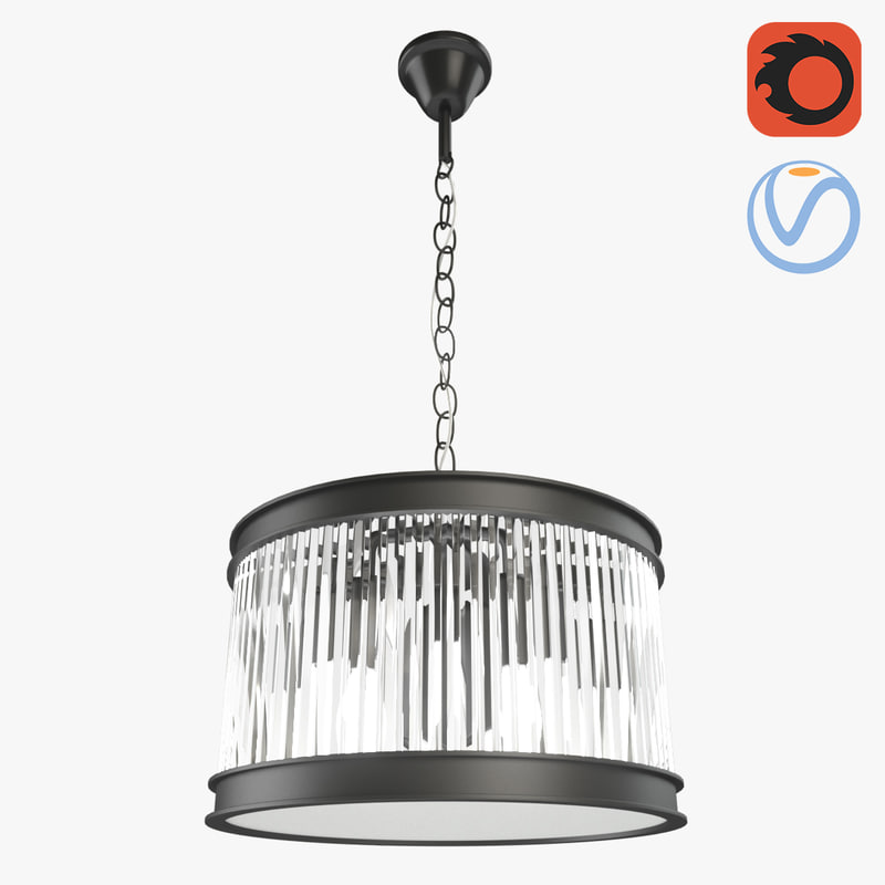 3D loft glamour crystal chandelier