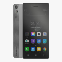 3D lenovo vibe shot pearl model
