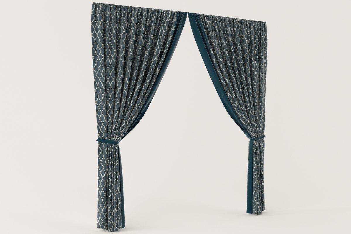 3D velvet curtain