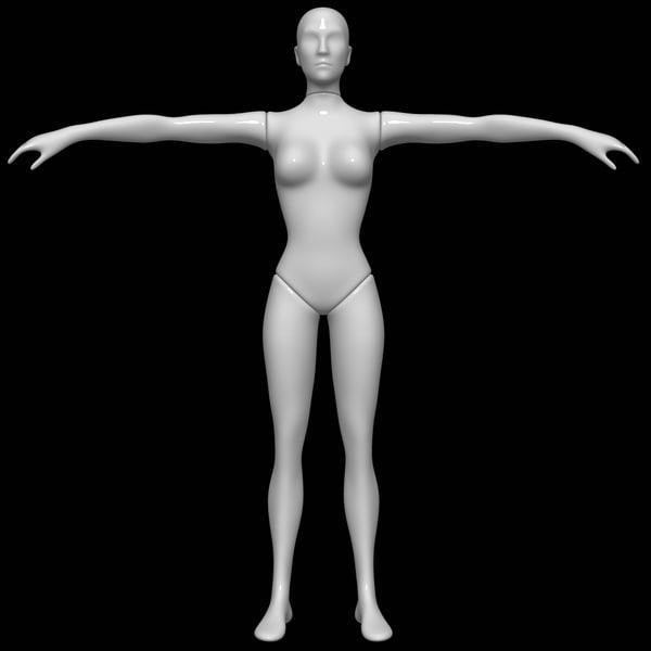 mannequin female 3D model