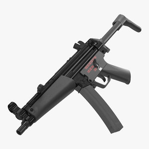 3D mp5a3 retractable stock