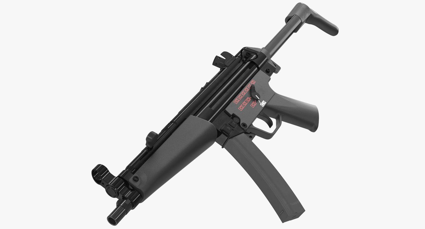 3D mp5a3 retractable stock