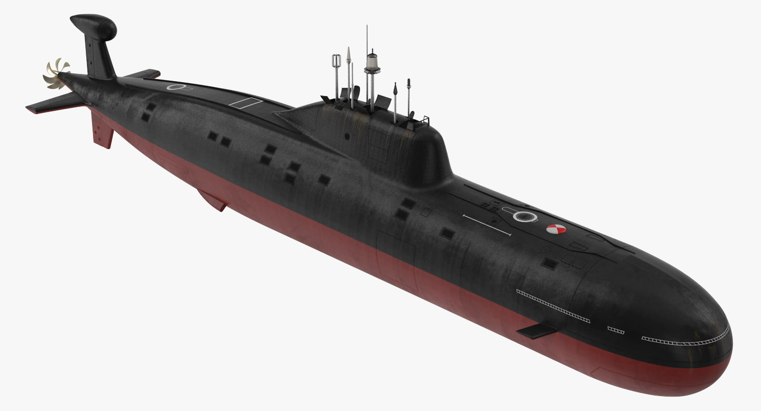 nuclear powered attack submarine 3D model