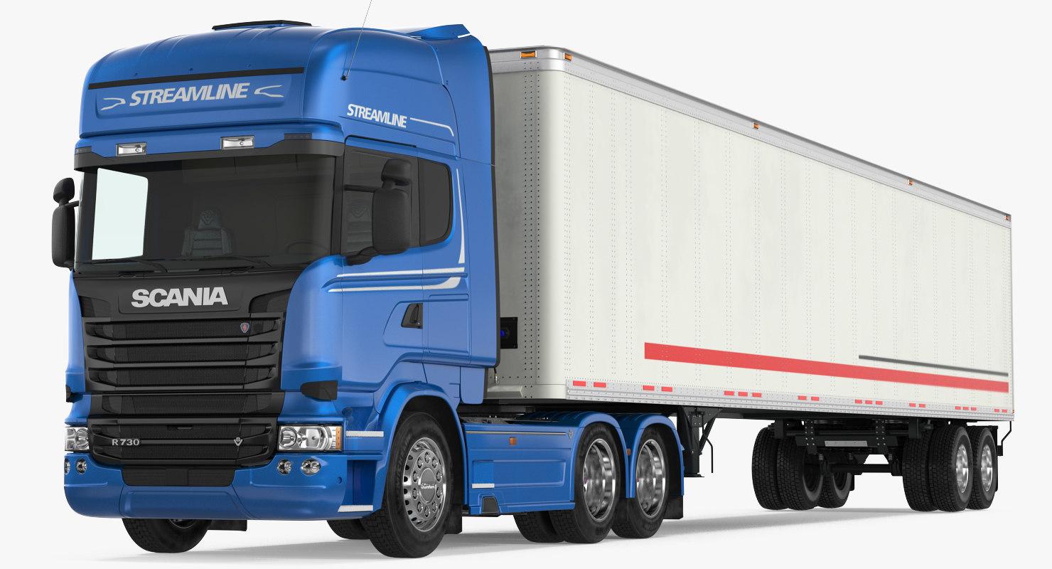 3D model scania streamline trailer truck