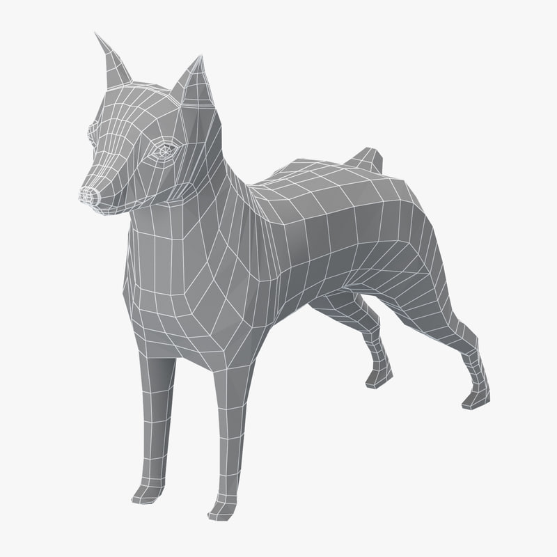 base mesh mini pinscher 3D model