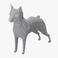 Miniature Pinscher Base Mesh