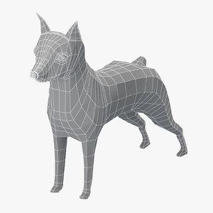 base mesh mini pinscher 3D model