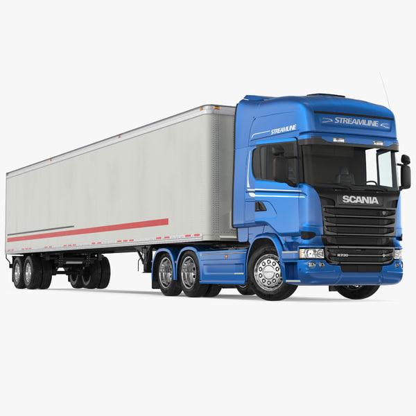 scania streamline trailer truck 3D model