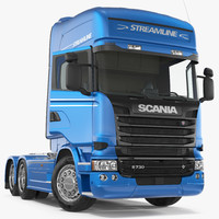 3D scania streamline truck rigged