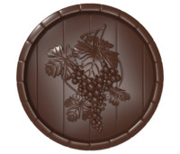 bas relief grape barrel model