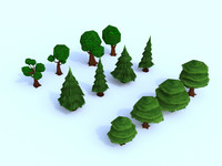 3D trees mobile games