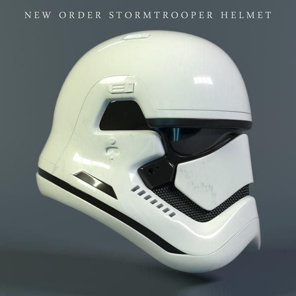 new stormtrooper helmet star wars 3D