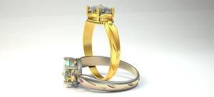 3D wedding ring beautifull women