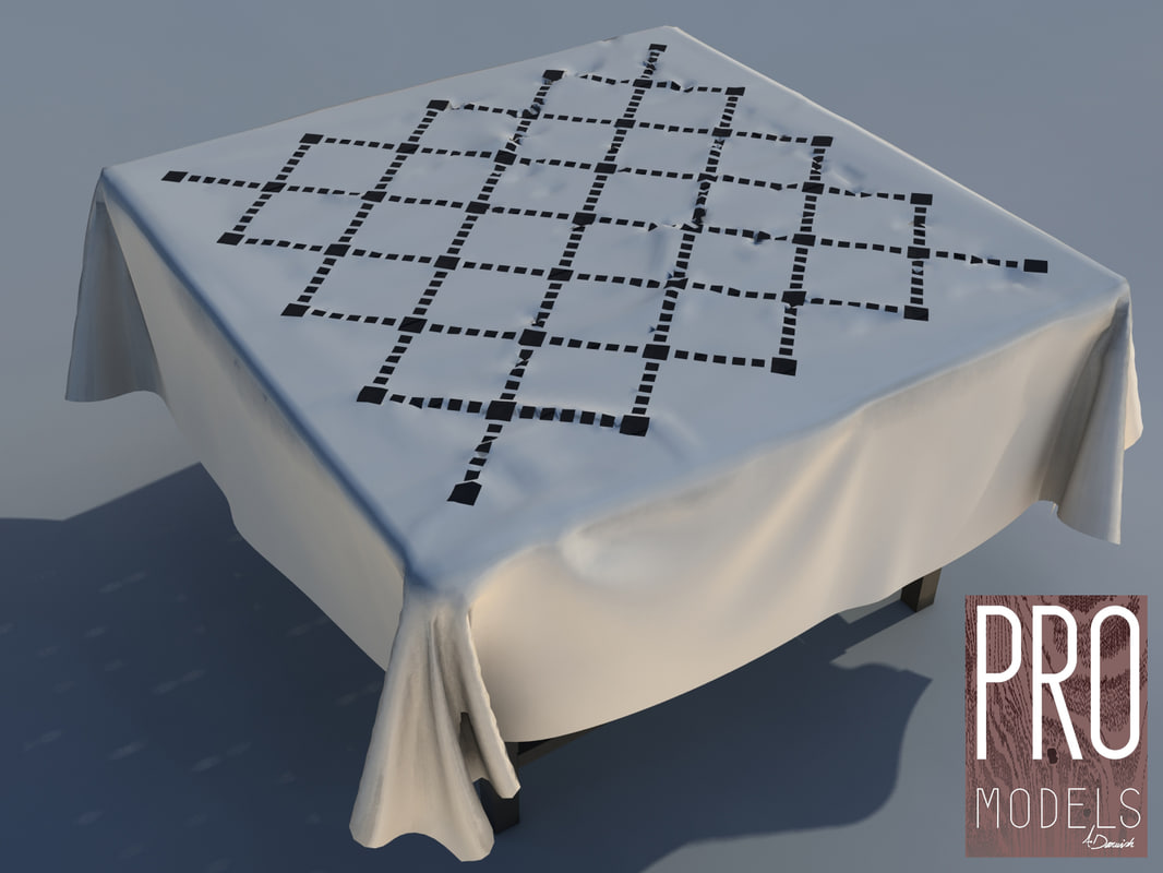 table cloth pattern 3D model