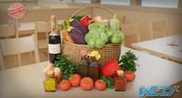 3D model vegetable basket