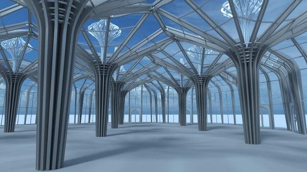 modern greenhouse 3D model