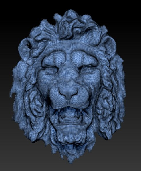 lion head model
