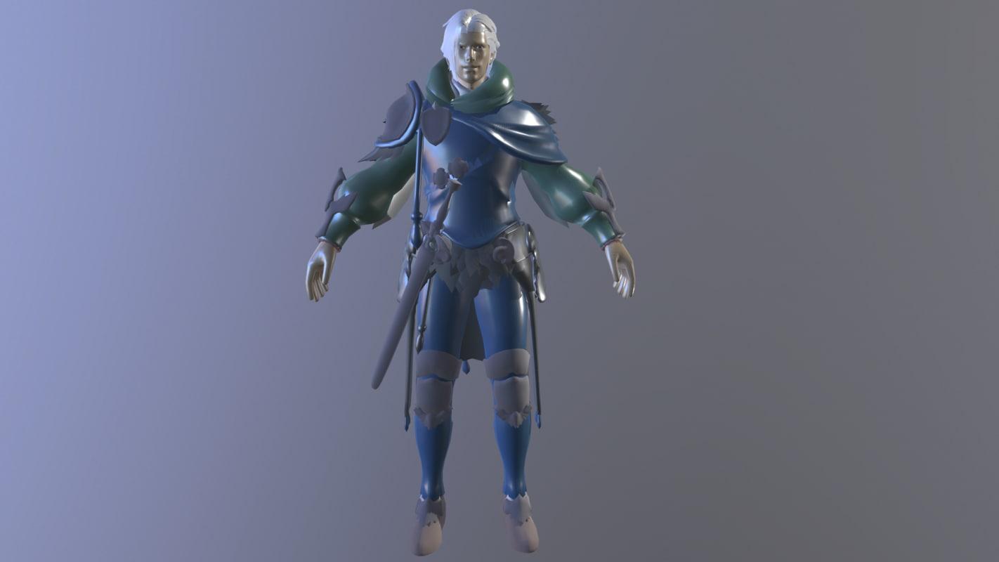 character modeled 3D model