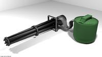 gatling gun 3D model