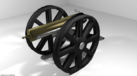 3D gatling gun model
