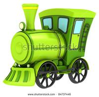 3D model toy locomotive
