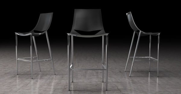 bar stool swoop 3D