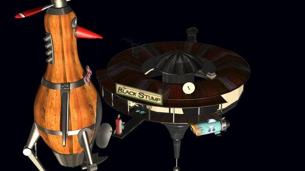3D ch jones space station model