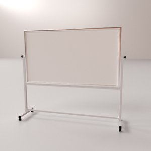 3D model whiteboard stand