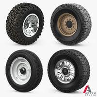 wheels set 3D