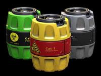 realistic barrels pack pbr 3D model