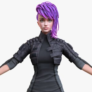 3D stylized girl model