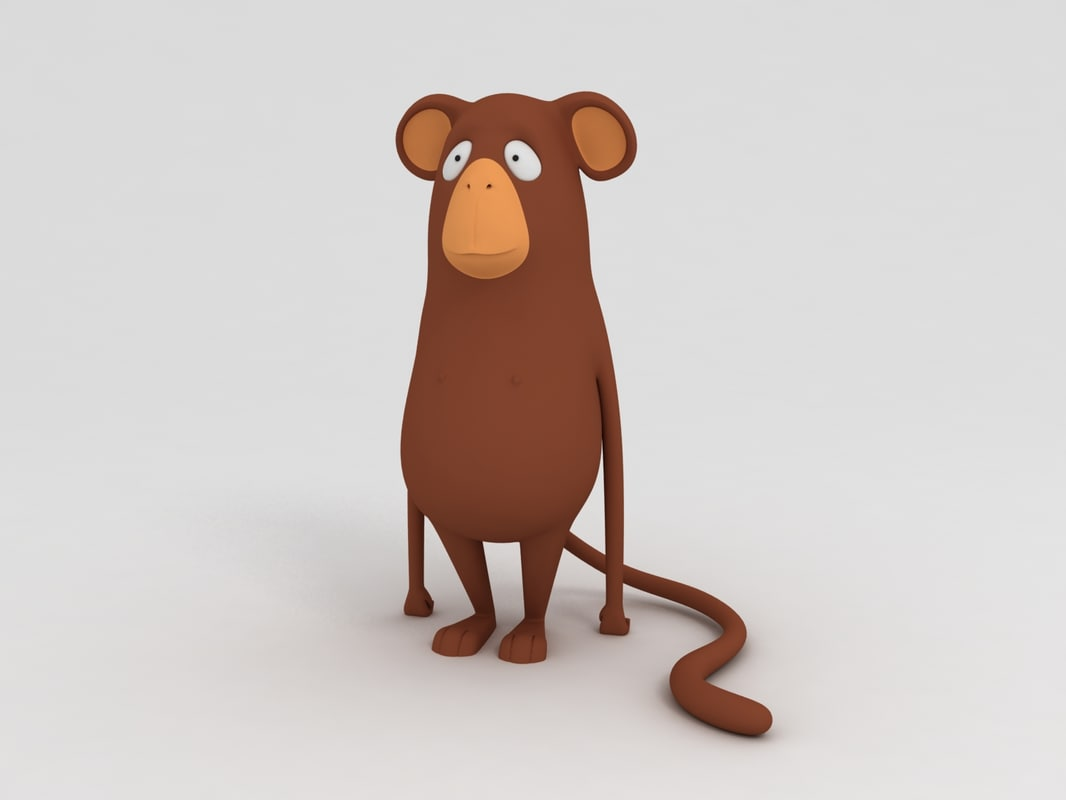 chimp monkey cartoon model