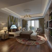 bed interior room 3D model