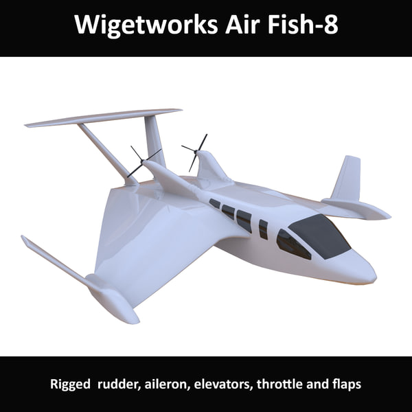 wigetworks air fish 8 3D model