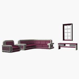 raspberry armchair headset 3D model