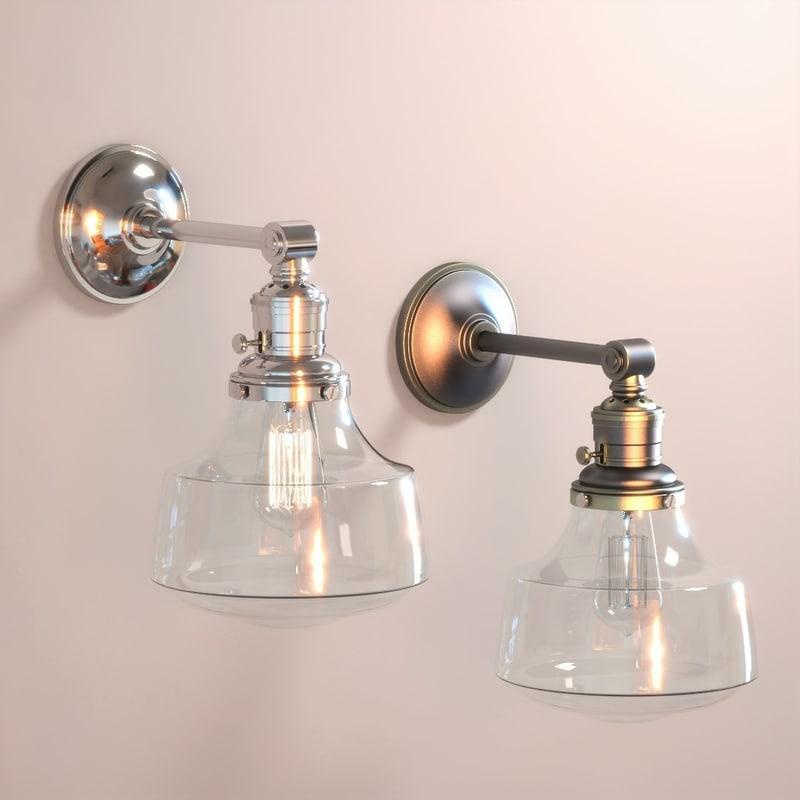 3D model lamp glass sconce classic