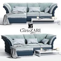 cortezari tiago corner sofa 3D model