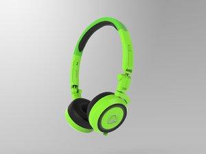 akg q460 headphones 3D model