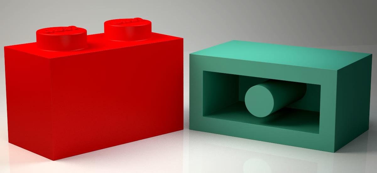brick 1x2 orginial size model