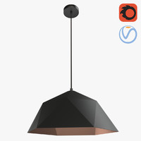 modern low-poly style lamp 3D