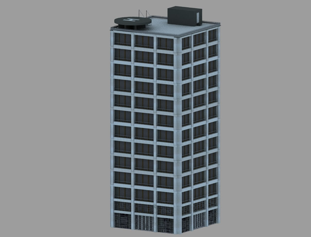 3D modern office building